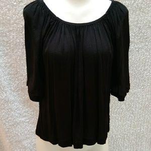 Loft Black Flowy blouse